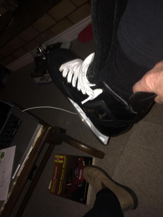 Foot in True Skate, more room at back than appears.JPG